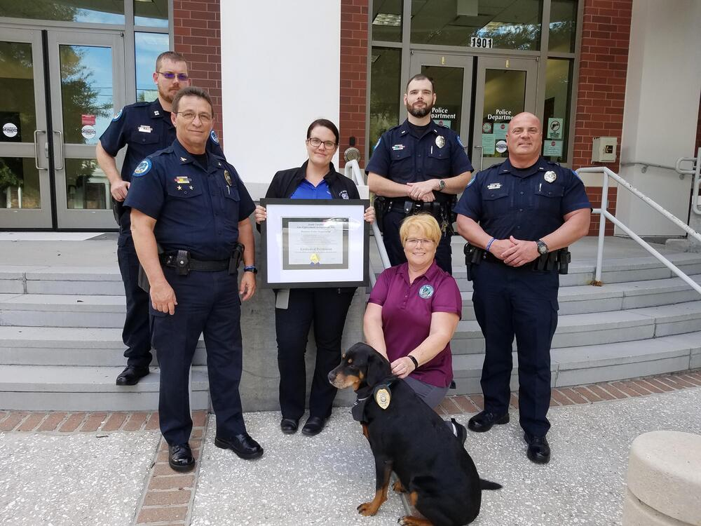 Beaufort Police Department - Accreditation Award Photo (Sept 2020)